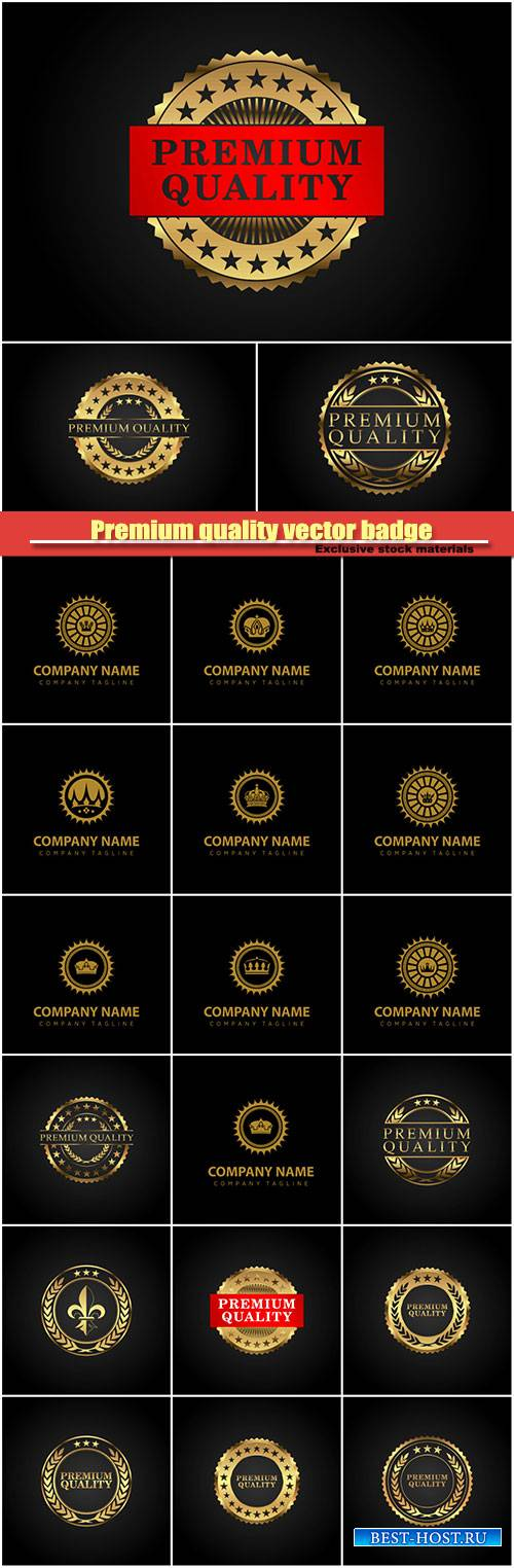 Premium quality vector badge, company logo