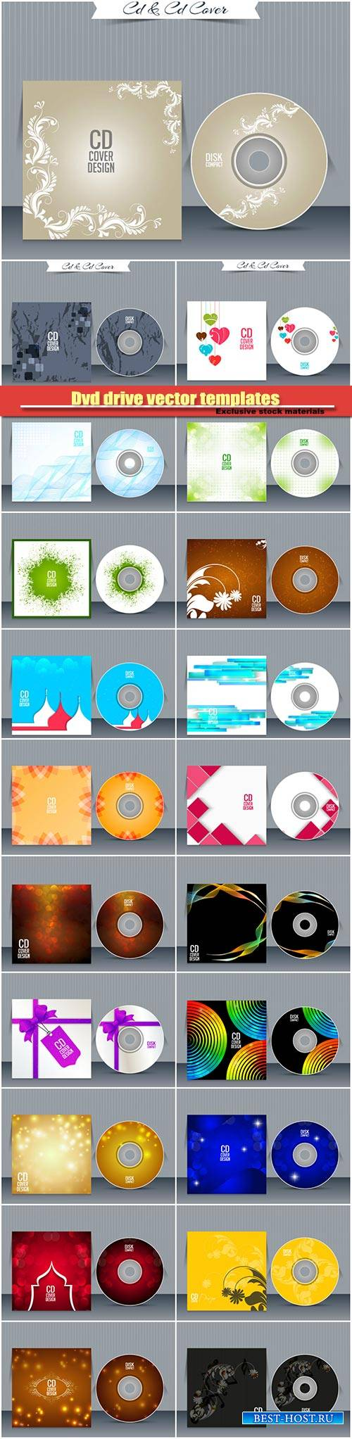 Dvd drive vector templates