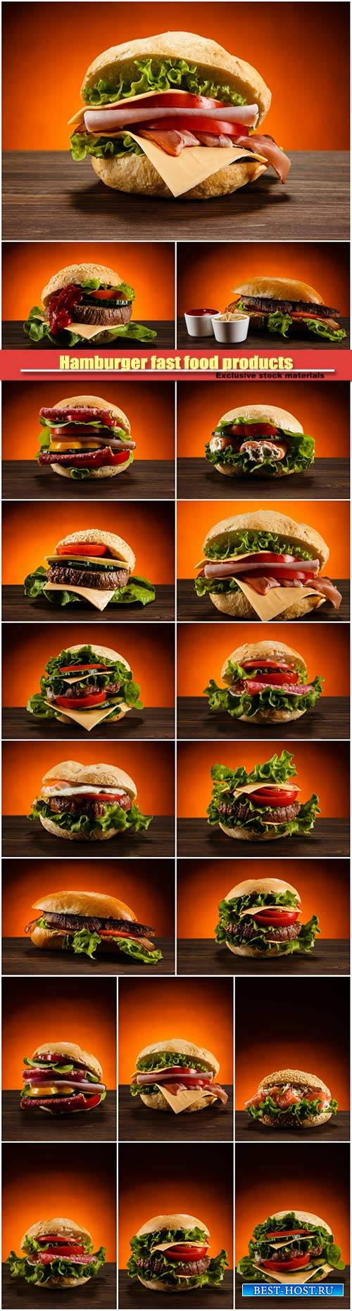 Hamburger fast food products