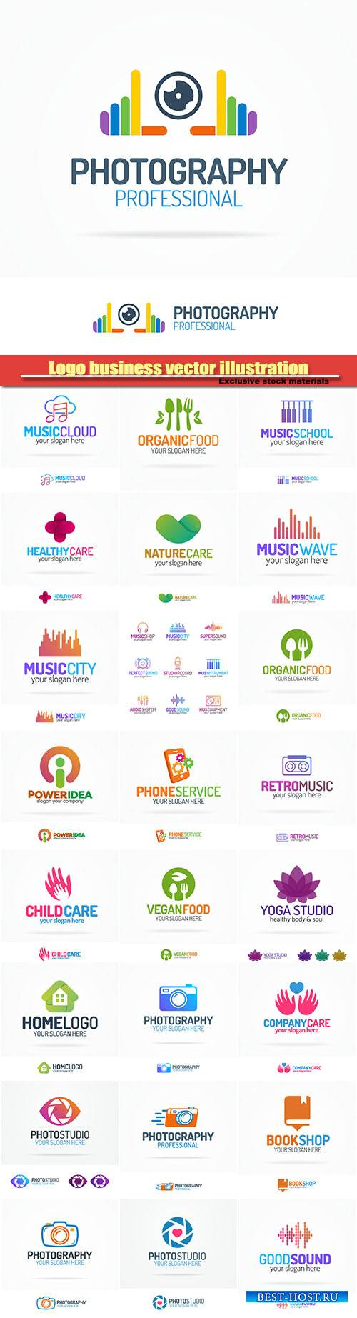 Logo business vector illustration #32