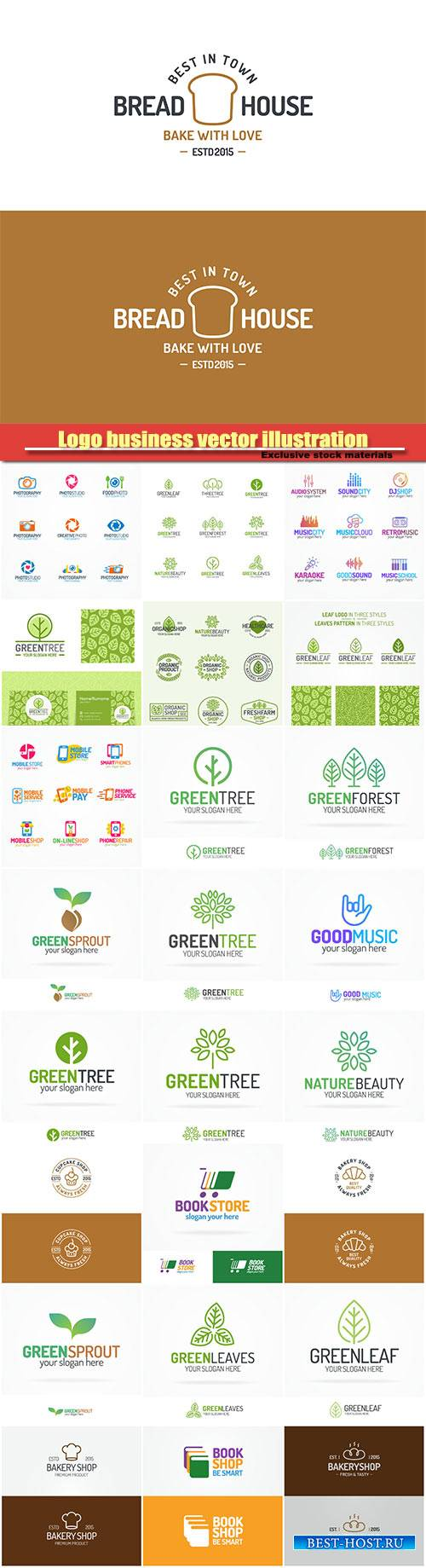 Logo business vector illustration #33