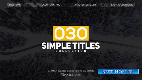 Простые Названия 19626743 - Project for After Effects (Videohive)