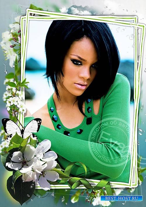Рамочка для фотошоп - Весенний ароматный первоцвет