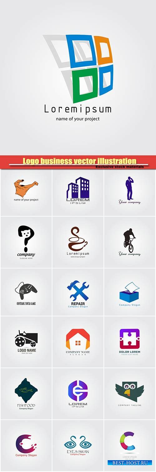 Logo business vector illustration #35
