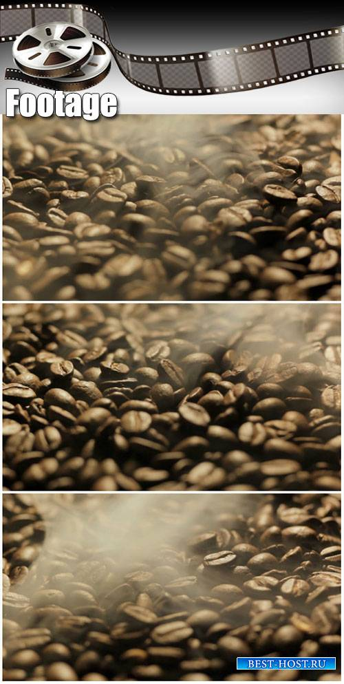 Video footage Roasting coffee beans
