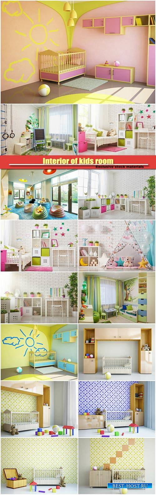 Interior of kids room