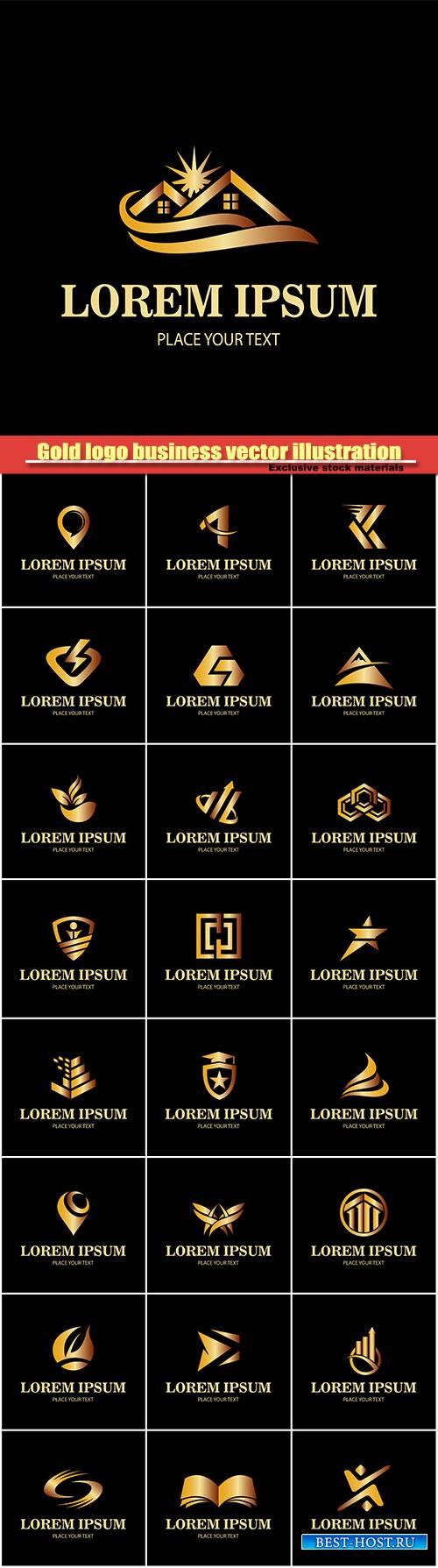 Gold logo business vector illustration #7