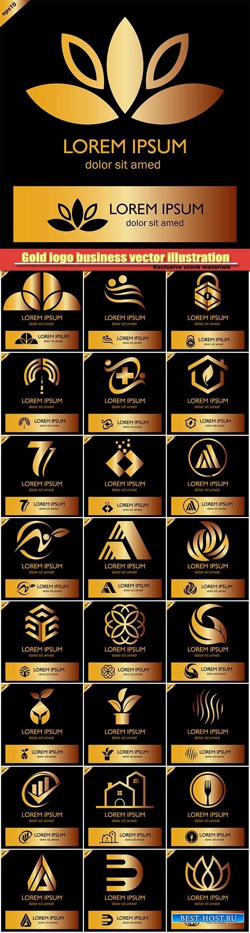 Gold logo business vector illustration #10