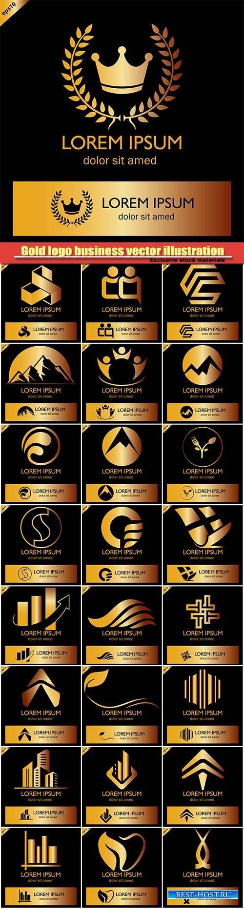 Gold logo business vector illustration #13