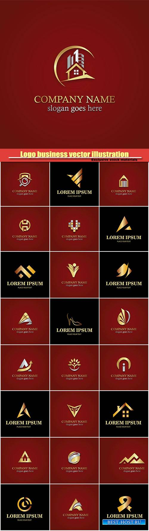 Gold logo business vector illustration #9