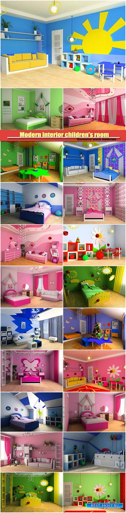 Modern interior children's room