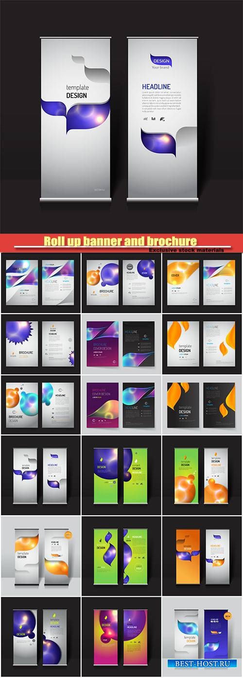 Roll up banner and brochure layout template design