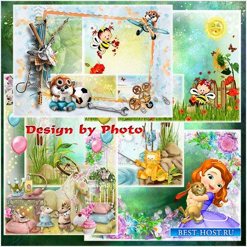 Детские фоторамки с героями мультфильмов