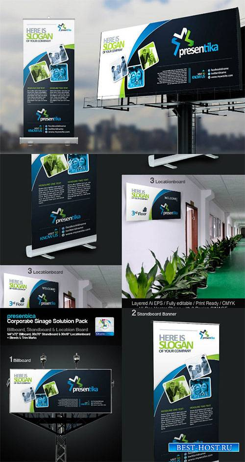 Corporate Signage Solution Pack