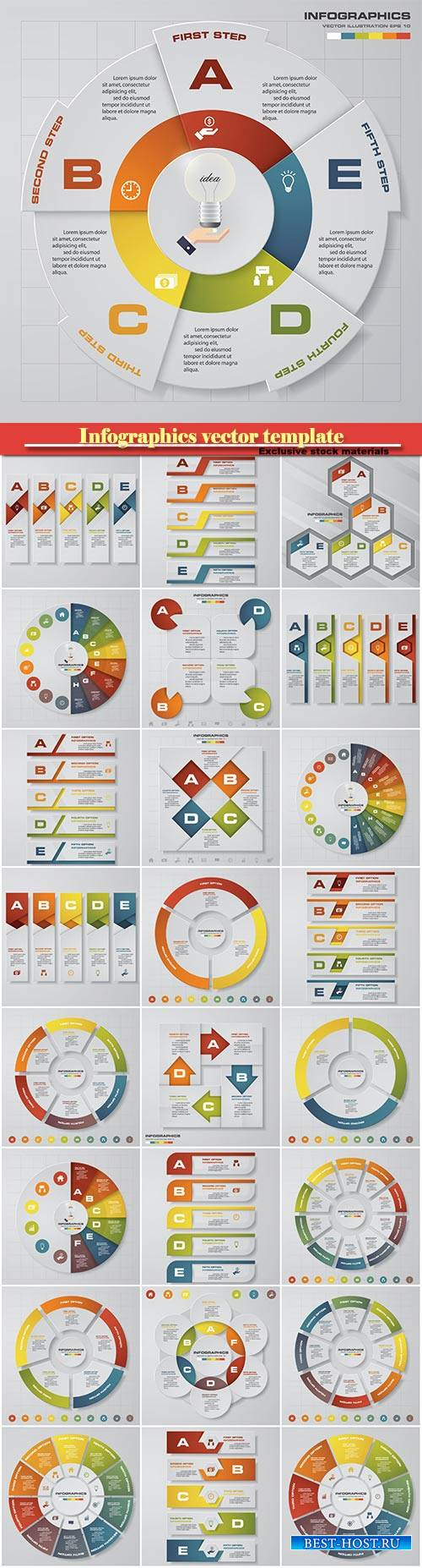 Infographics vector template for business presentations or information bann ...