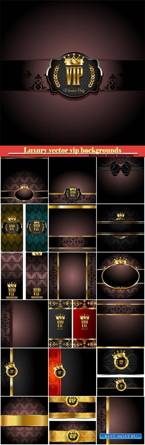 Luxury vector vip backgrounds