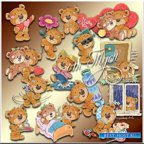 Мишки Тедди опять с нами. Часть 8 - Детский клипарт