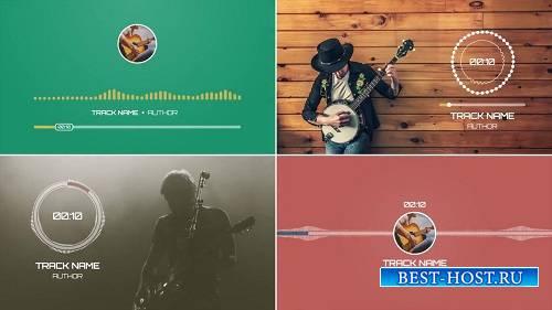 Плоские музыкальные визуализаторы - After Effects Templates