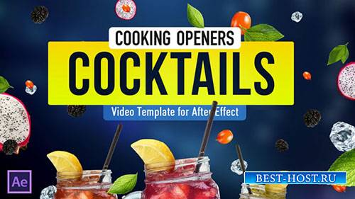 Cooking Design Pack - коктейли - Project for After Effects (Videohive)