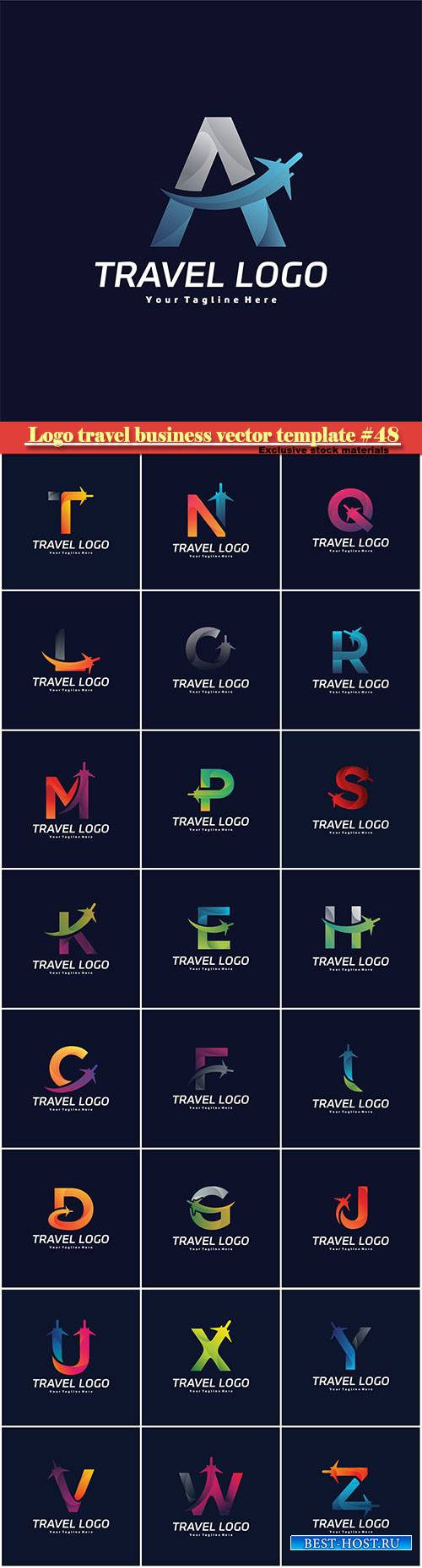 Logo travel business vector illustration template #48