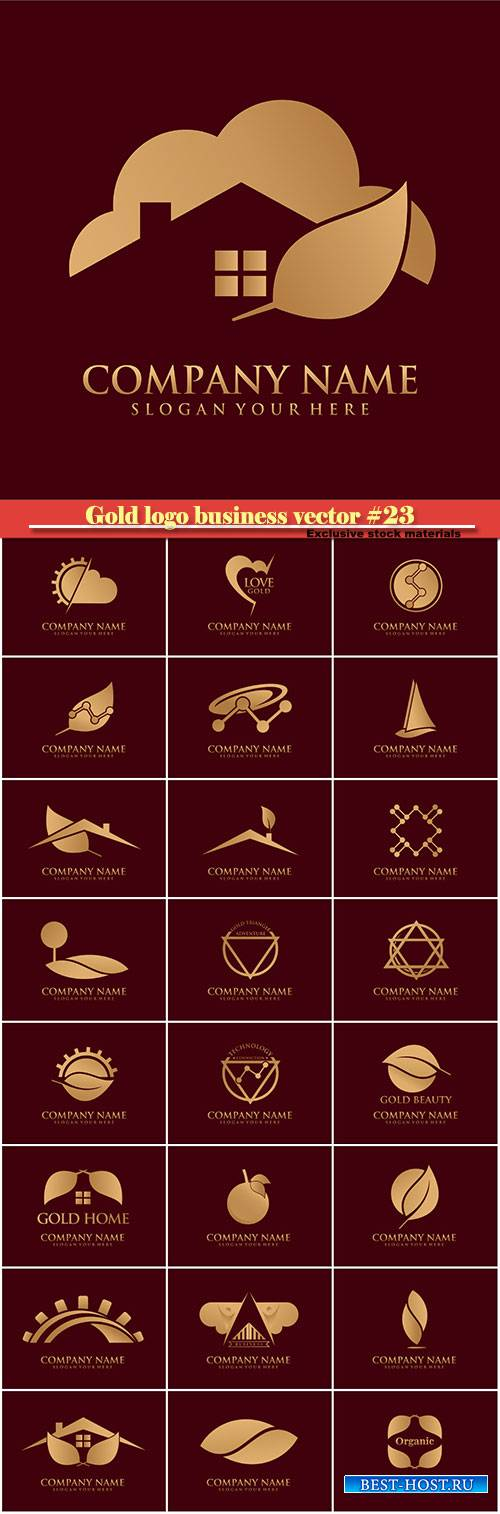 Gold logo business vector illustration #23
