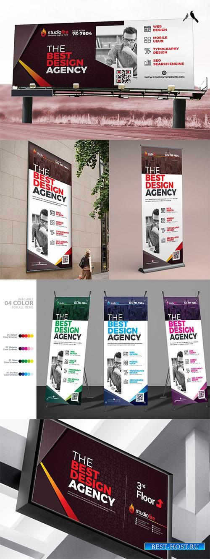 Signage Design: Billboard, Rollup Banner