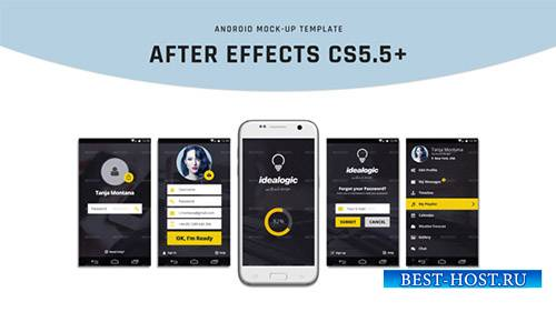 Android Mock-Up - Project for After Effects (Videohive)