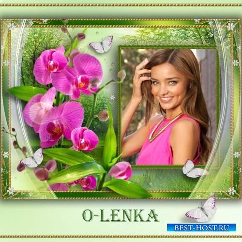 Рамка для фотошопа - Прекрасные цветы, загадка тайны и любви