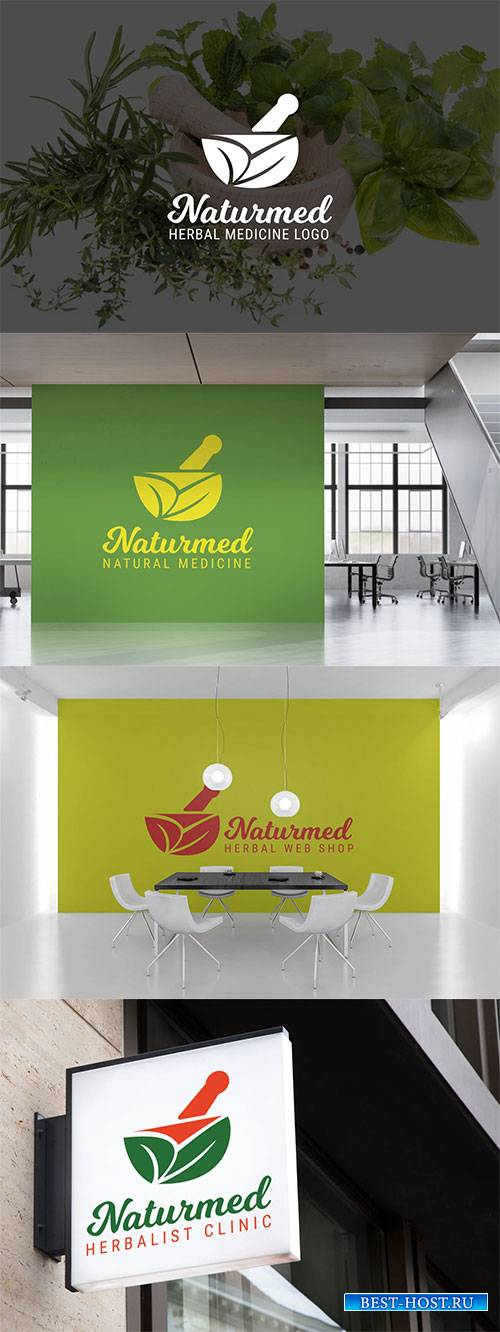 Naturmed : Herbal Medicine or Pharmacy Logo