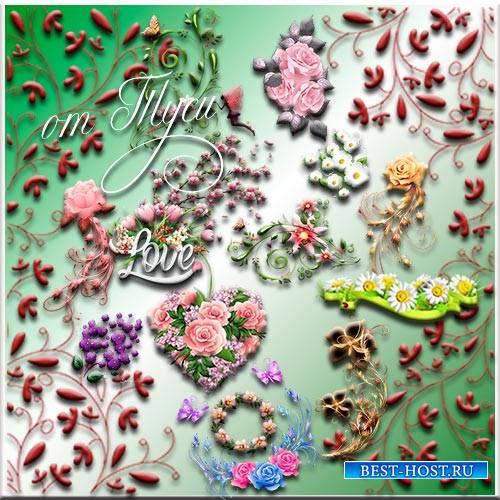 Летние цветы - Клипарт