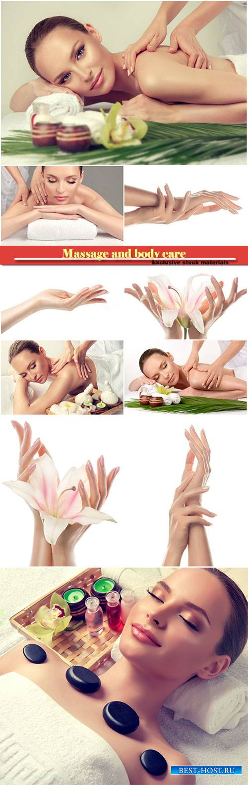 Massage and body  care, spa body massage treatment