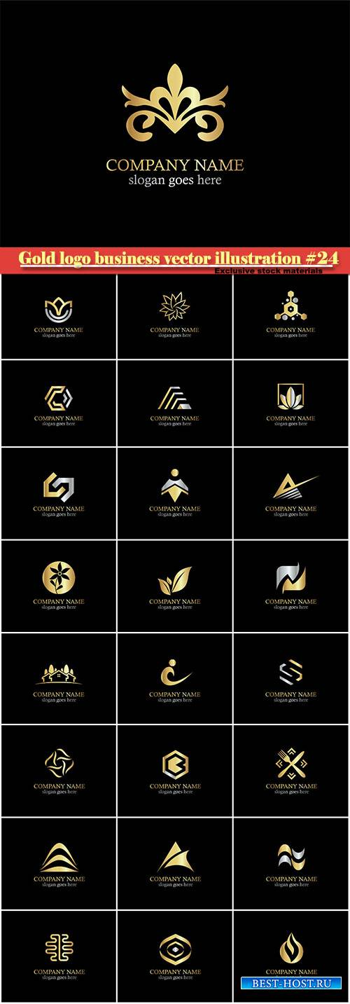 Gold logo business vector illustration #24