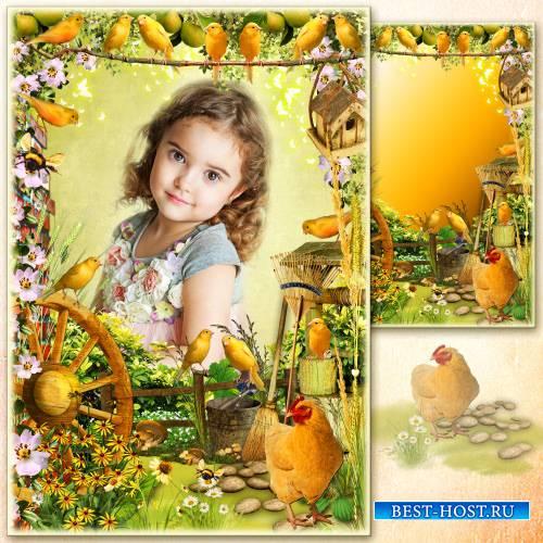 Рамка для фото - Многоцветье деревенского сада