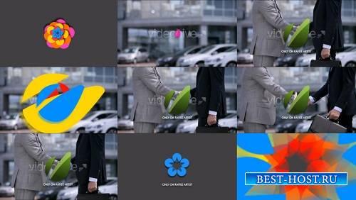 Плоский красочный логотип - After Effects Шаблоны
