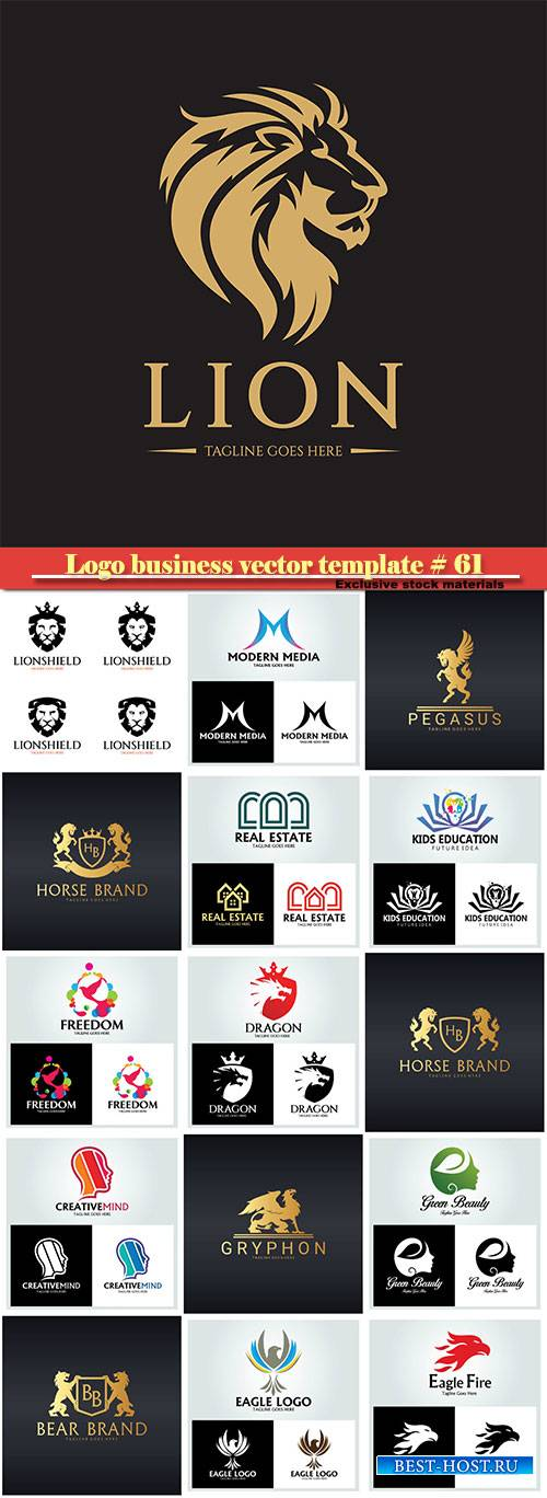 Logo business vector illustration template # 61