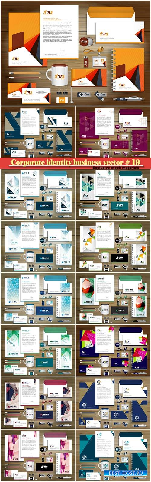 Corporate identity business vector # 19