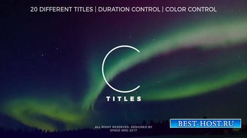 Чистые титулы 20265516 - Project for After Effects (Videohive)