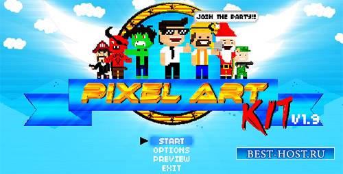 Pixel Art Kit V1.9 - Project for After Effects (Videohive)