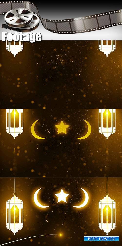 Video footage  ramadan (ramazan) mubarak candle