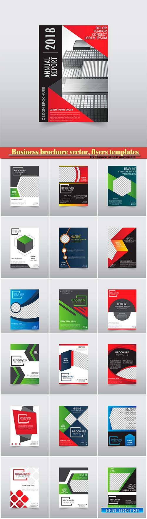 Business brochure vector, flyers templates # 29