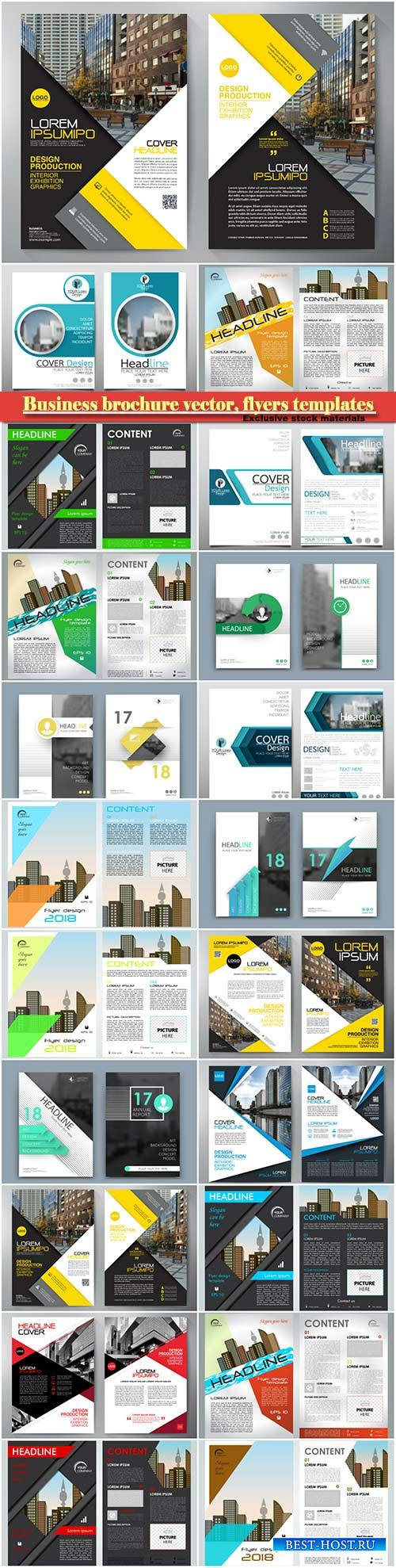 Business brochure vector, flyers templates # 33