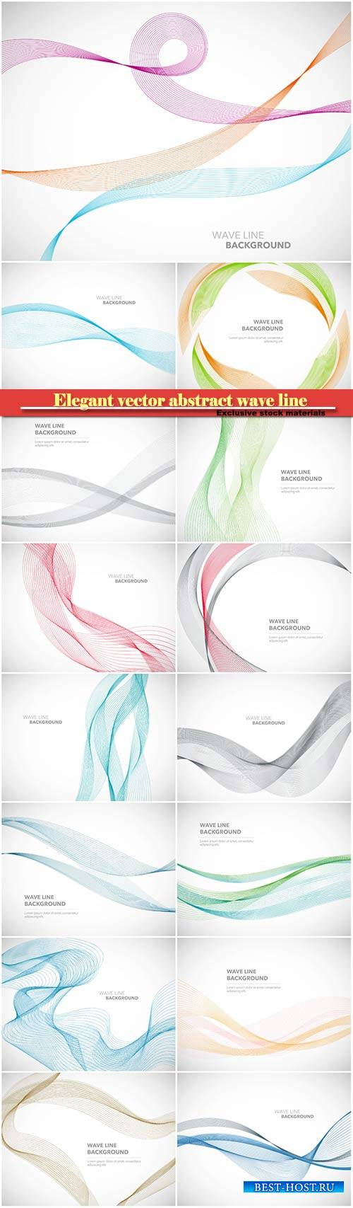 Elegant vector abstract wave line futuristic style background template