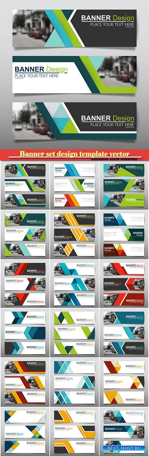 Banner set design template vector