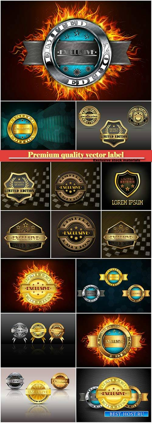 Premium quality label limited edition vector