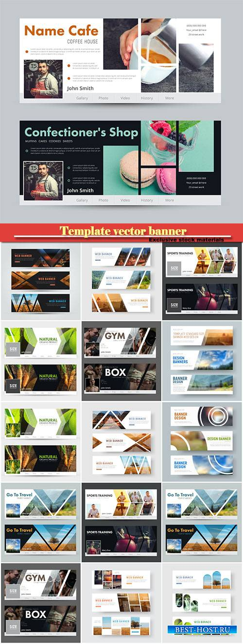 Template vector banner for images for social networks