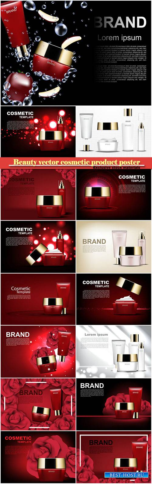 Beauty vector cosmetic product poster # 21