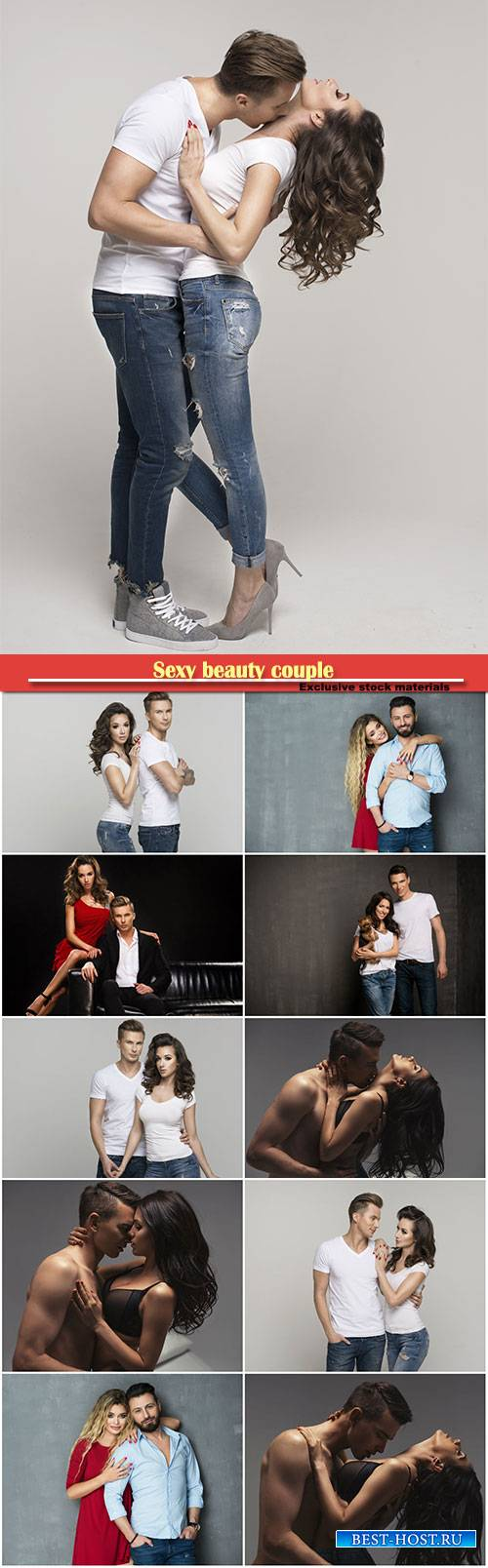 Sexy beauty couple, couple in jeans