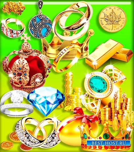 Png на прозрачном фоне - Золото, бриллианты