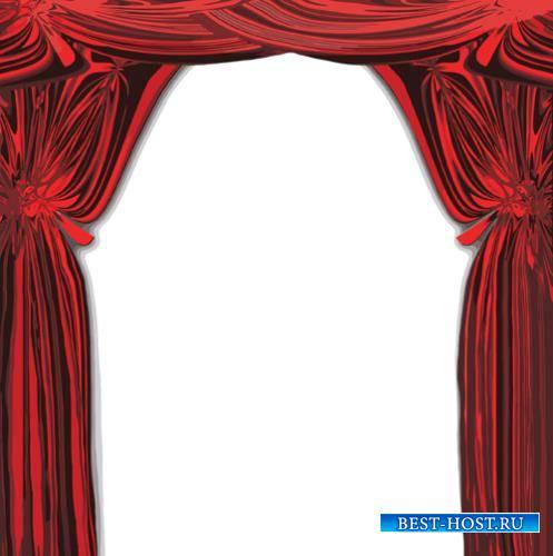 Картинки в формате png - Красные шторы