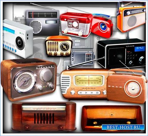 Png для фотошоп - Старинные радио приемники